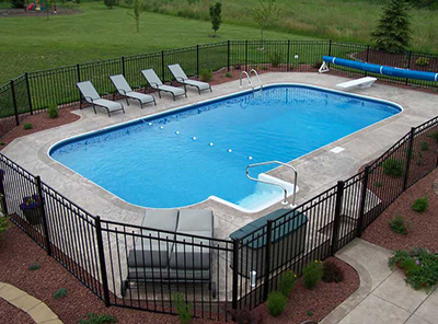 Pools madison wi patio pleasures for Above ground fiberglass pools