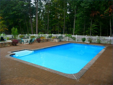 Inground pools madison wi patio pleasures for Vinyl swimming pool