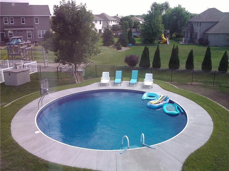 Radiant inground above ground or partially buried for Half in ground pool ideas