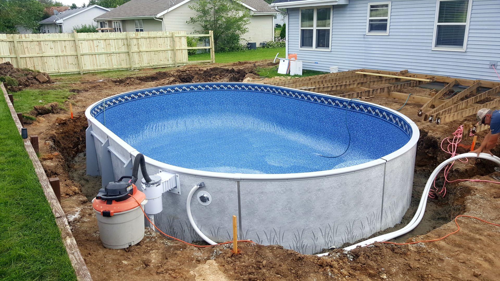 Radiant Pool 16x24 Oval Buried Patio Pleasures