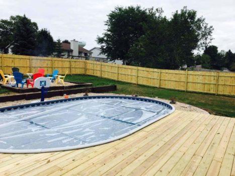 16x24 Oval Radiant Pool Lake Mills Wi Patio Pleasures