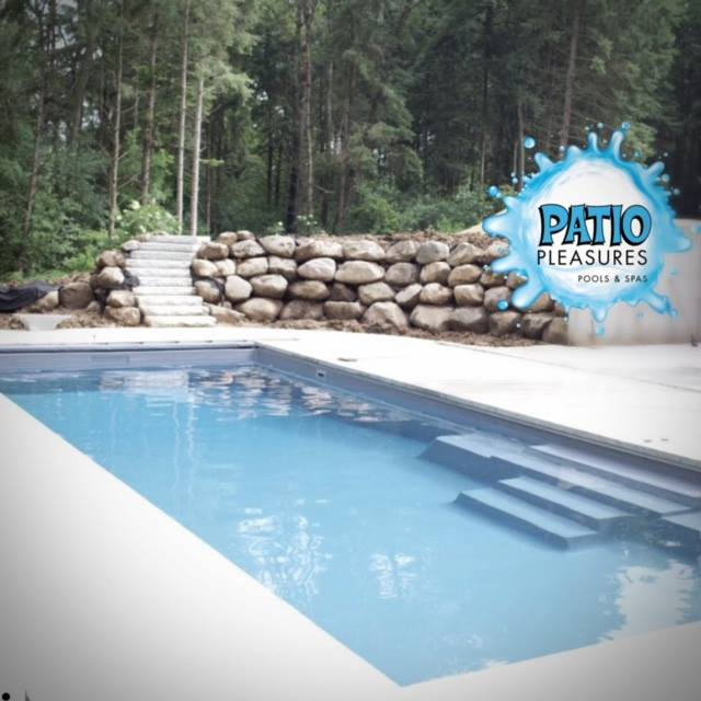 Patio Pleasures Pools Spas West Main Street Sun Prairie Wi: Celebration 40' Fiberglass Pool
